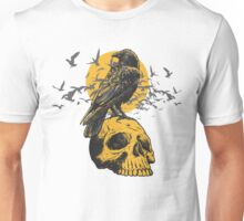 Skull and a Crow Unisex T-Shirt