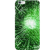 Green shatter case 1 iPhone Case/Skin