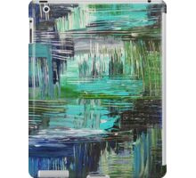 AQUATIC COMMOTION in Color - Textural Ocean Beach Nautical Abstract Acrylic Painting Wow Winter Xmas iPad Case/Skin