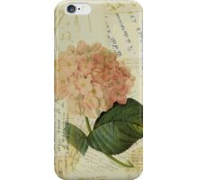 Decoupage hydrangea iPhone Case/Skin
