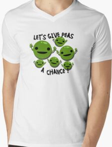 Give Peas a Chance Mens V-Neck T-Shirt