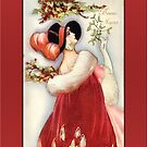 Deco Woman Holiday Christmas Card by Pamela Phelps