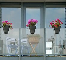 Balcony in Stavoren - the Netherlands by Arie Koene