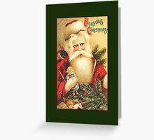 Santa with Doll Christmas Card Greeting Card