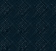 Dark Blue With Checkered Pinstripe by pjwuebker
