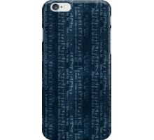 Dark Blue Music iPhone Case/Skin