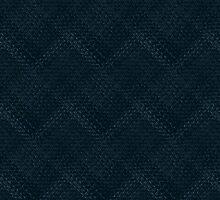 Dark Blue Checks by pjwuebker