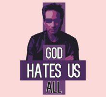 God Hates Us All - Hank Moody - Californication One Piece - Long Sleeve