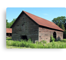 A Simple and Old Timey Barn Canvas Print