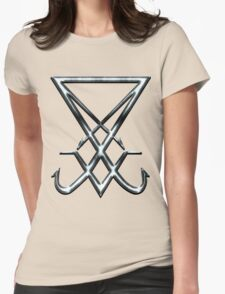 THE SIGIL OF LUCIFER - dirty chrome Womens Fitted T-Shirt