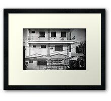 Windows of neighbor Framed Print