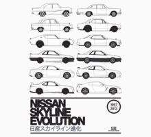 Nissan Skyline History One Piece - Short Sleeve