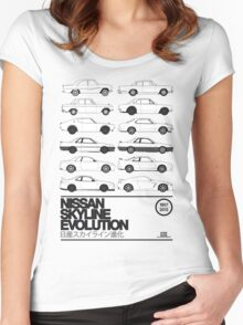 Nissan Skyline History Women's Fitted Scoop T-Shirt