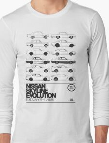 Nissan Skyline History Long Sleeve T-Shirt