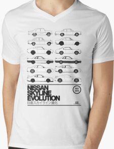 Nissan Skyline History Mens V-Neck T-Shirt