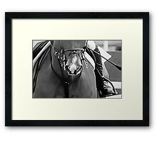 Charging To The Fray Framed Print