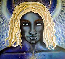 Archangel Michael - Original Painting by Maradiop