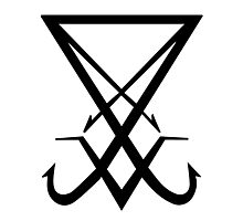 THE SIGIL OF LUCIFER - solid black Photographic Print