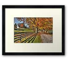 Crebilly Farm Drive Framed Print