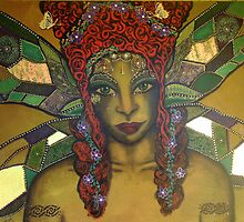 Esmerelda Nature Spirit - Original Painting by Maradiop
