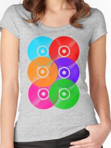 Vinyl Colors - Record Colours Rainbow DJ Women's Fitted Scoop T-Shirt