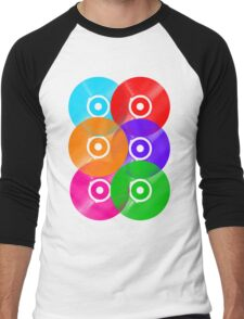 Vinyl Colors - Record Colours Rainbow DJ Men's Baseball ¾ T-Shirt