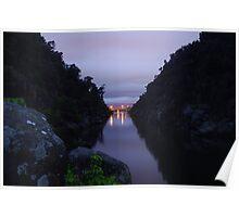 Pre dawn at Cataract Gorge, Launceston Tasmania  Poster