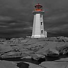 Peggy&#x27;s Cove Lighthouse by Donald  Stewart