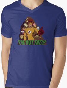 I'M NOT FAT! Mens V-Neck T-Shirt
