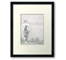 unknown person Framed Print
