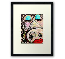Lipstick on a Pig Framed Print