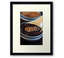 Yellow and Brown Grain of Mustard Seed Framed Print