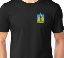 Santa Cruz Surfer Statue Sunset Unisex T-Shirt