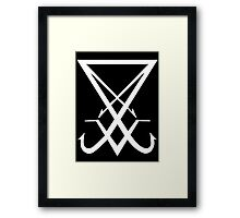 THE SIGIL OF LUCIFER - solid white Framed Print