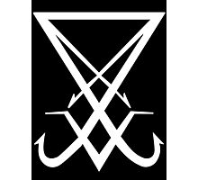 THE SIGIL OF LUCIFER - solid white Photographic Print