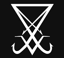 THE SIGIL OF LUCIFER - solid white Unisex T-Shirt