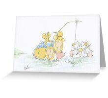 Big Ol' Bear-Gone Fishin' Greeting Card