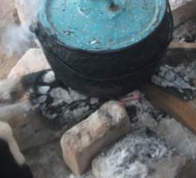 La Olla Azul -- The Turquoise Pot Sticker