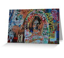 Lennon Wall Greeting Card