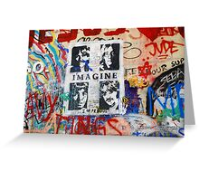 Lennon Wall_2 Greeting Card