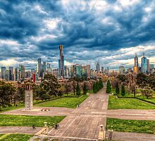 Melbourne Skyline by brucejn