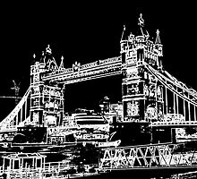 Tower Bridge art by DavidHornchurch