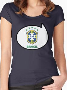 Brazil Soccer / Football Fan Shirt / Sticker Women's Fitted Scoop T-Shirt