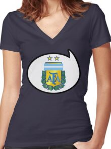 Argentina Soccer / Football Fan Shirt / Sticker Women's Fitted V-Neck T-Shirt
