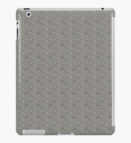 Silver Metal Grid Pattern iPad Case/Skin