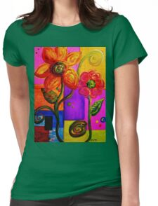 FANTASY FLOWERS Womens Fitted T-Shirt
