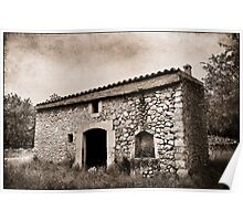 Abandoned old Spanish house Poster