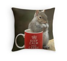 Keep Calm and Nibble Nuts Throw Pillow