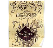 Map Harry potter castle Poster