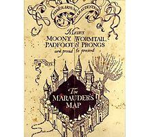 Map Harry potter castle Photographic Print